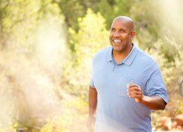 man exercising outdoors running