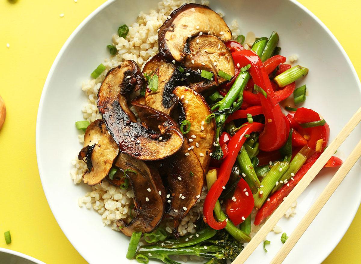 mushroom stir-fry