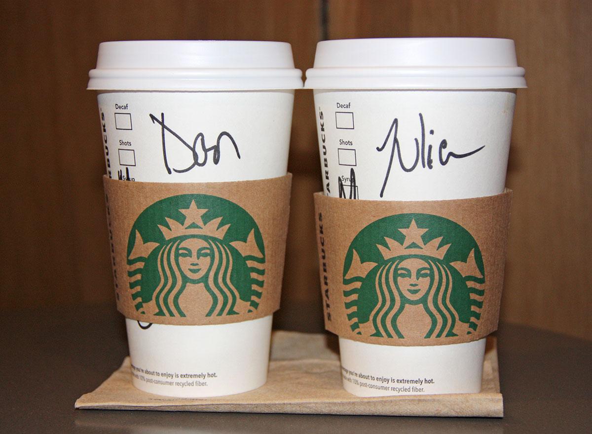 Names on Starbucks cups