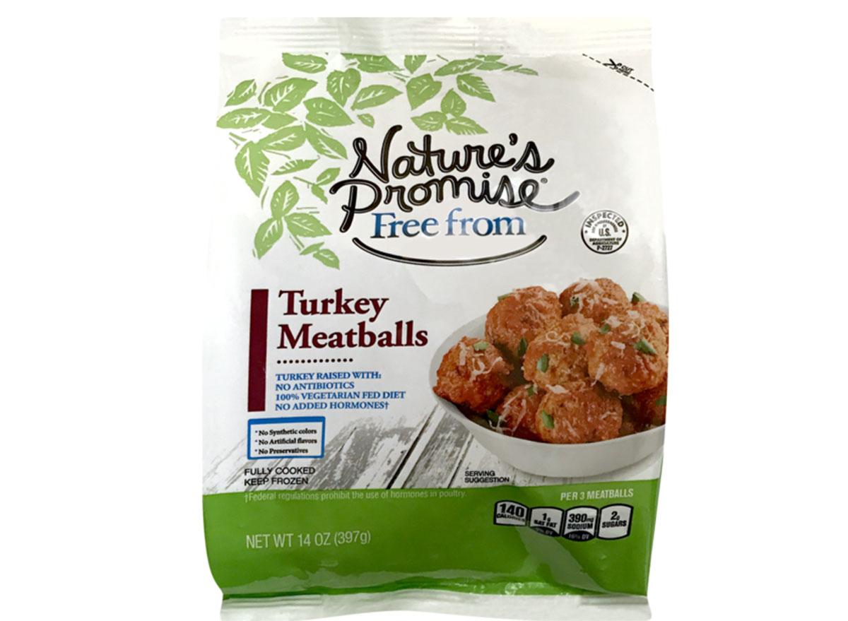 natures promise turkey meatballs