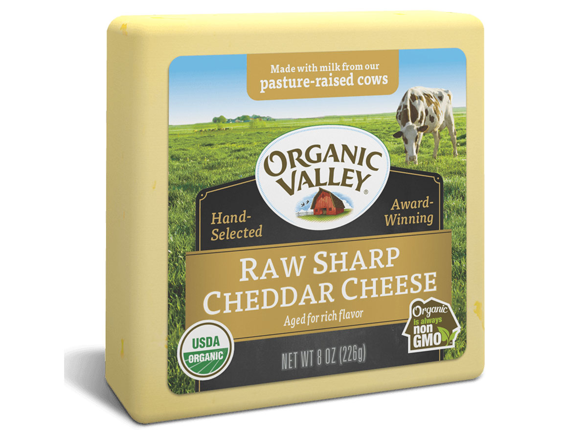 organic valley sharp cheddar