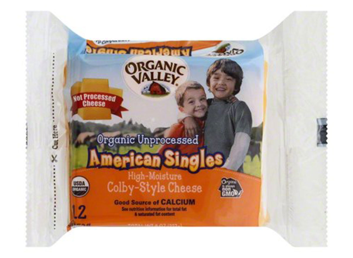 organic valley unprocessed cheese