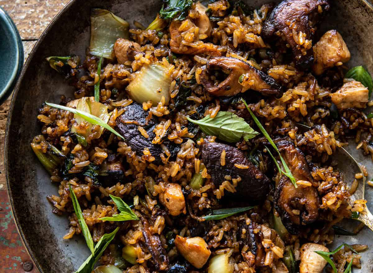 sesame and ginger chicken fried rice