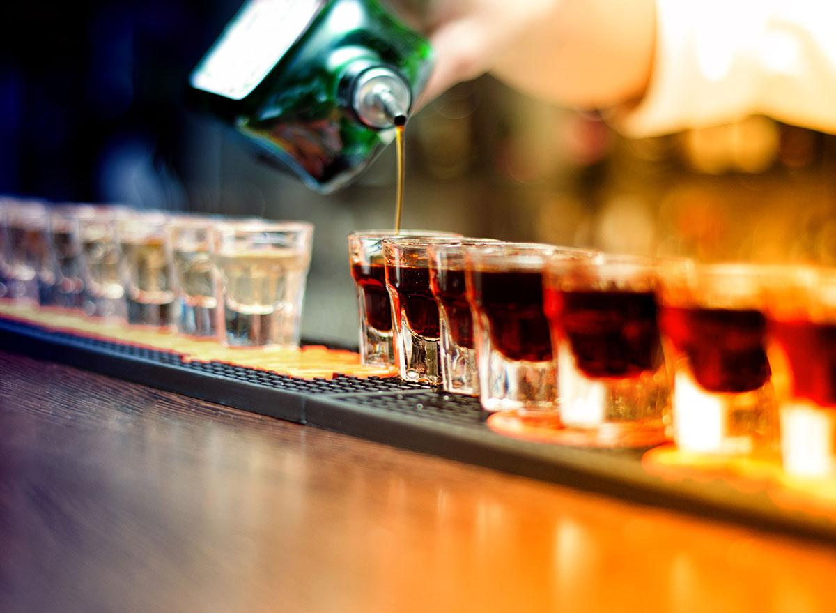 shots on bar
