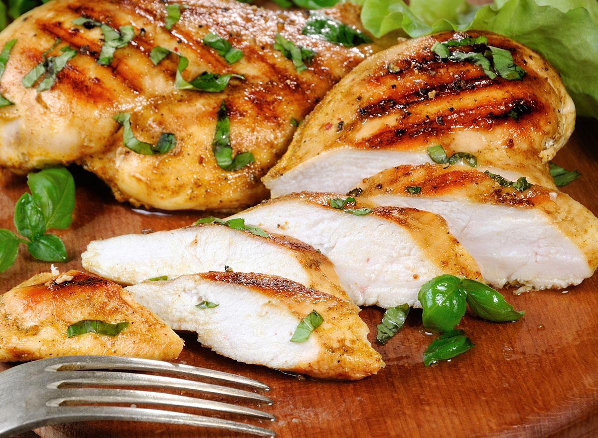 sliced juicy chicken