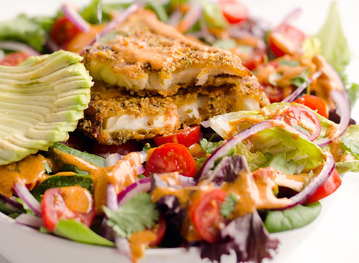 southwest tilapia salad
