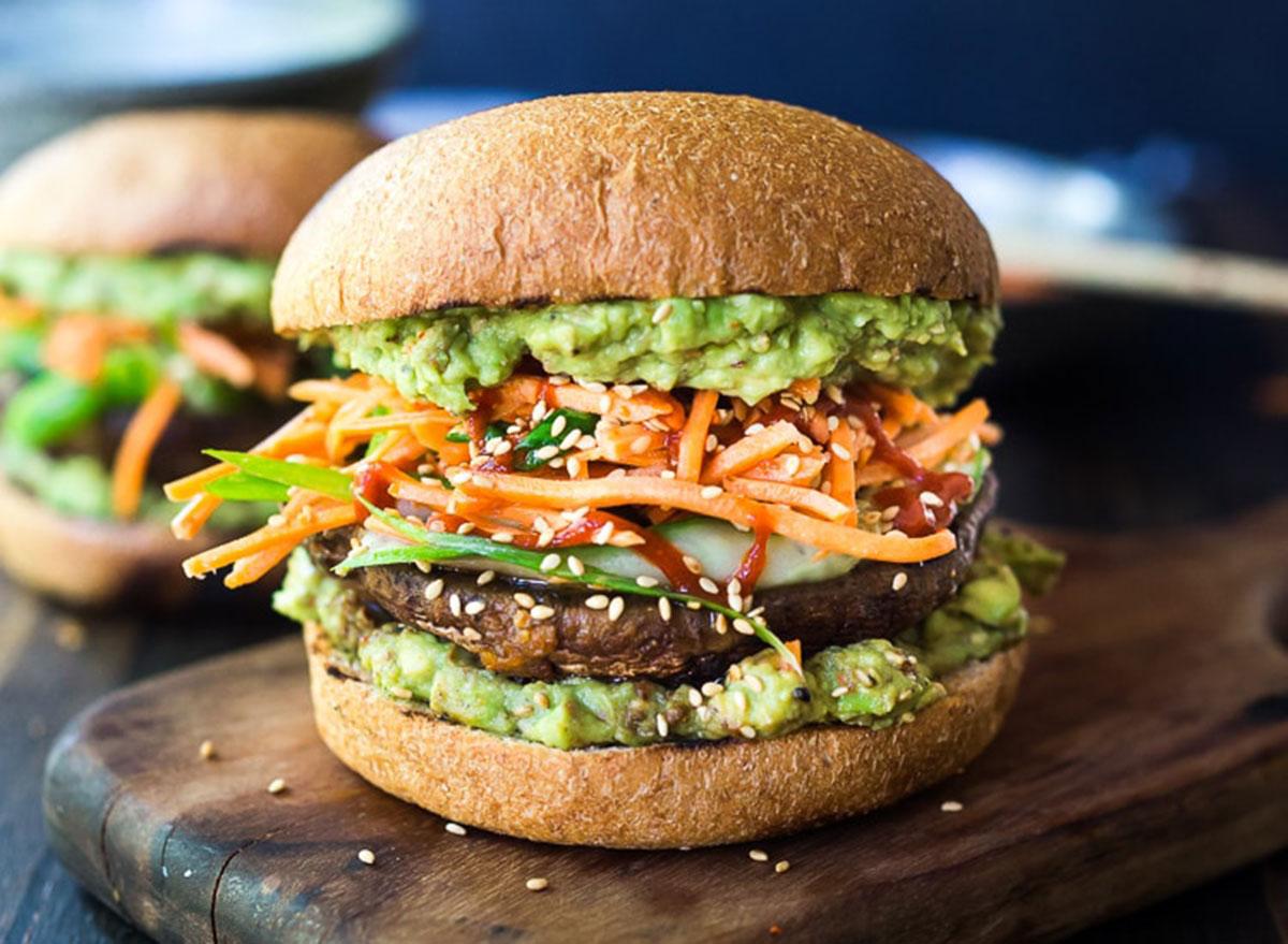 spicy miso portabello mushroom burger