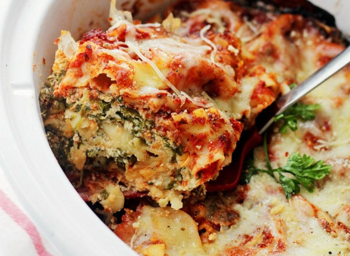 spinach and feta lasagna