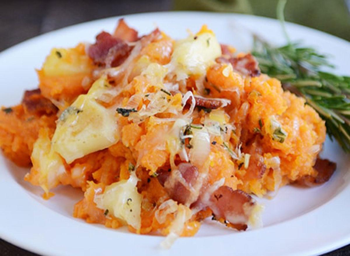 sweet potato bacon apple casserole