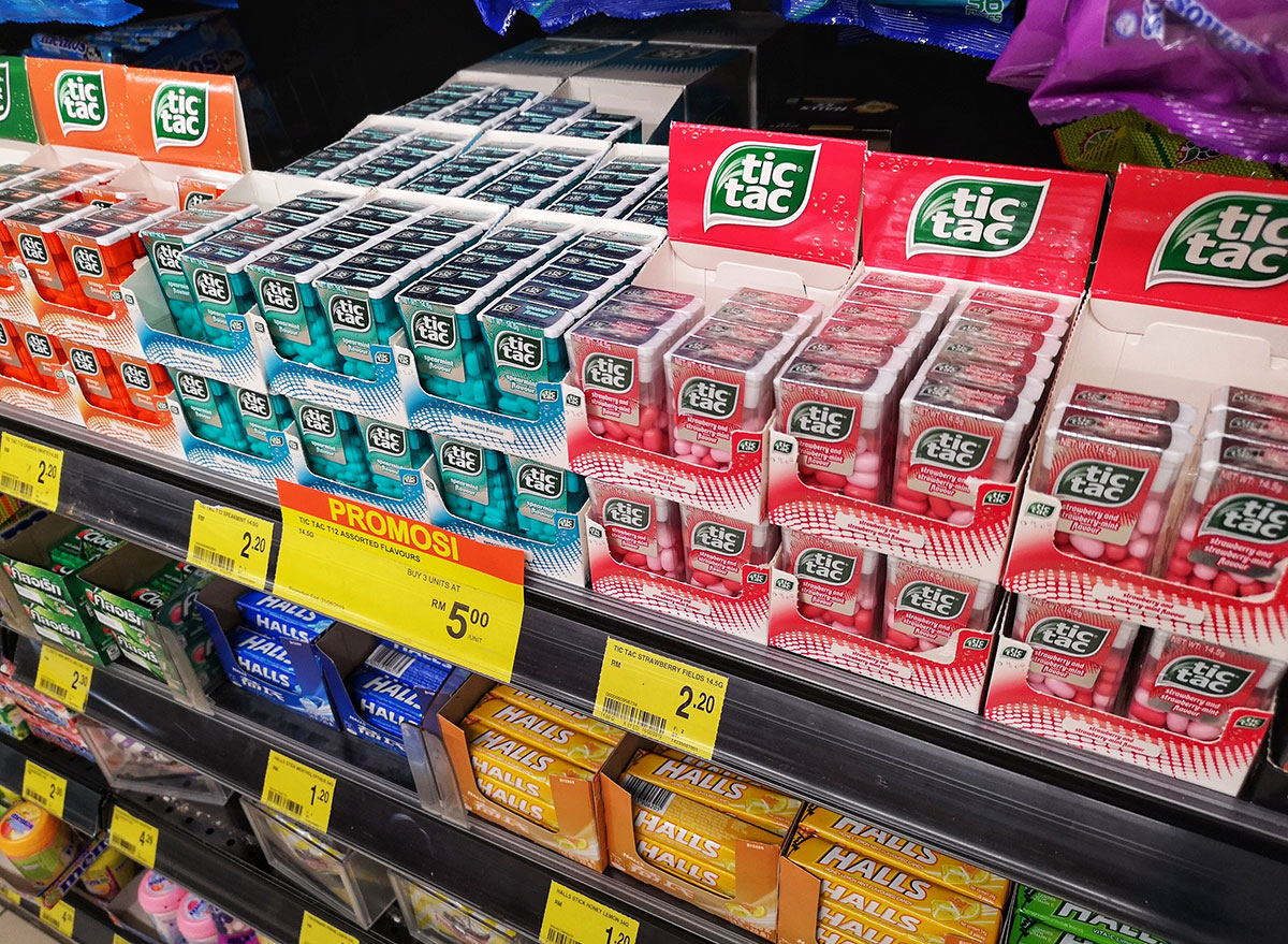 candy aisle with tic tacs