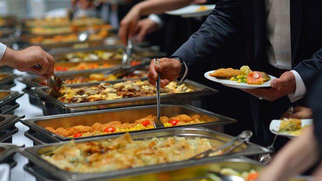 variety food buffet