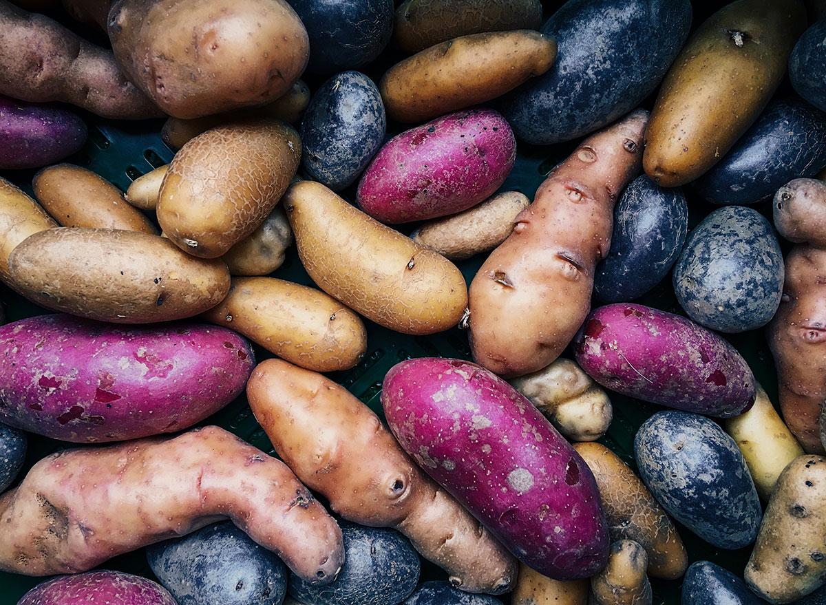 variety of potatoes