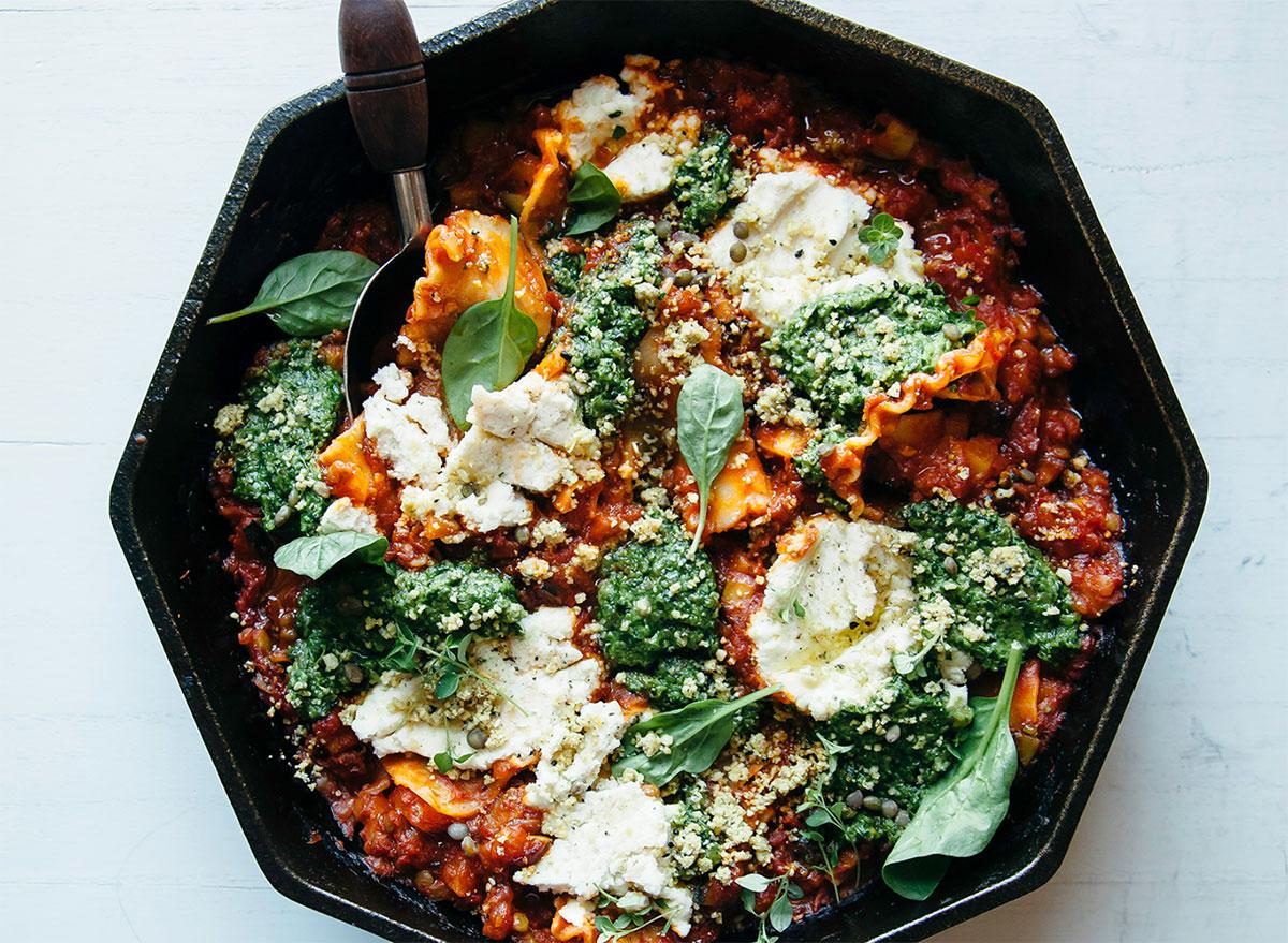 vegan skillet lasagna