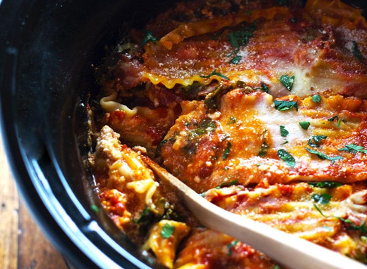 veggie crock-pot lasagna
