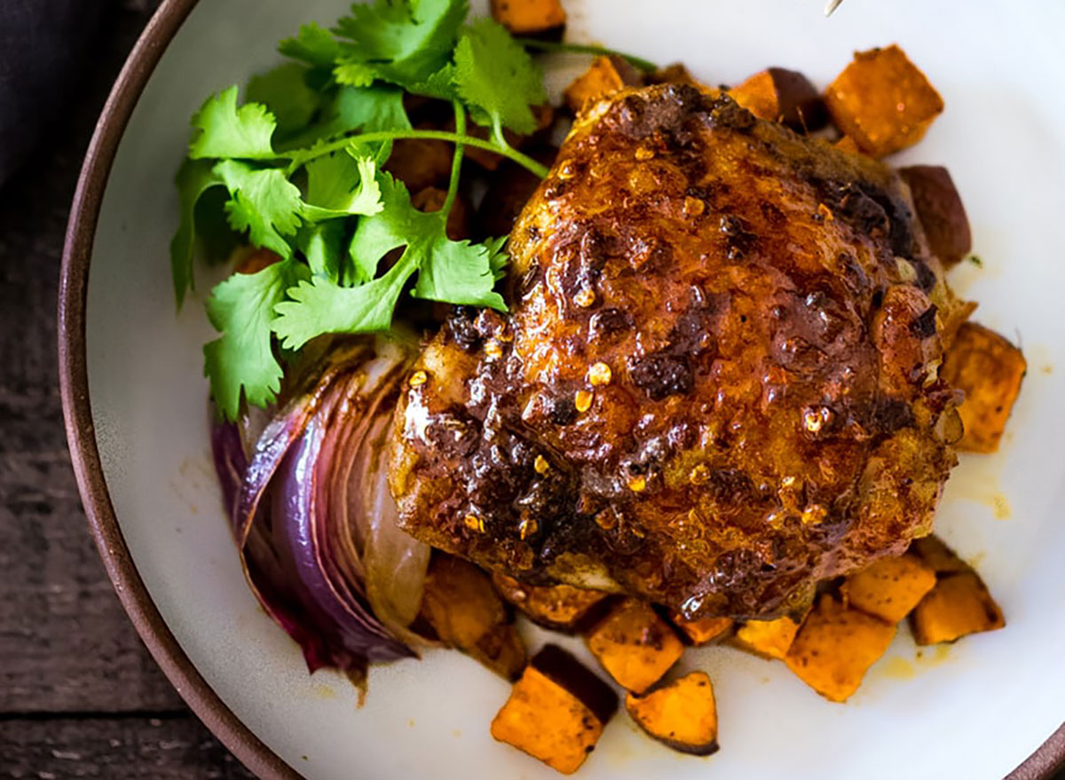 Chicken and sweet potatoes
