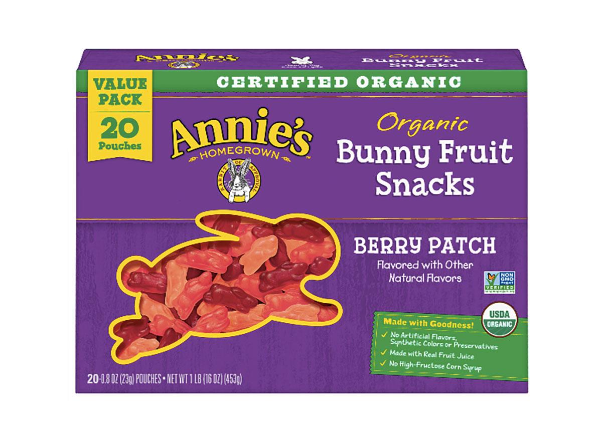 bunny fruit snack box