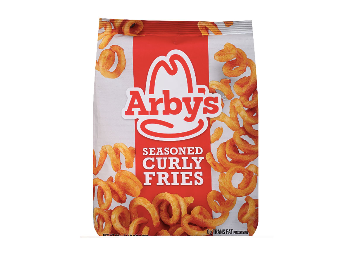 bag of frozen arbys curly fries