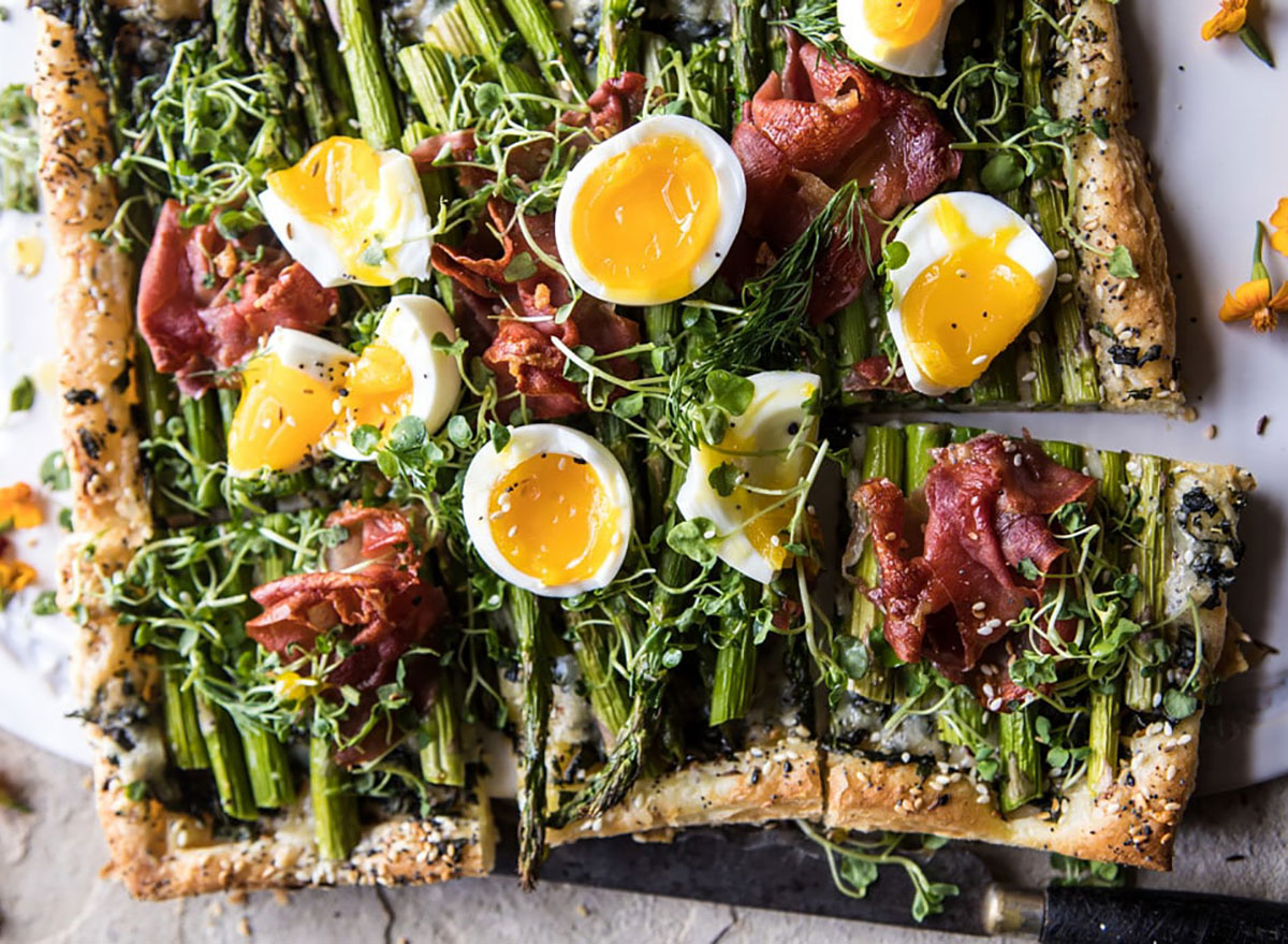 asparagus and proscuitto tart