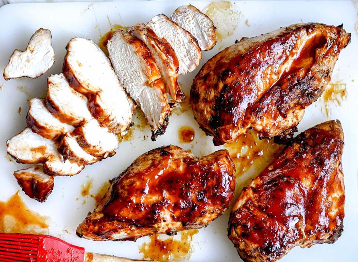 bbq chicken on serving platter