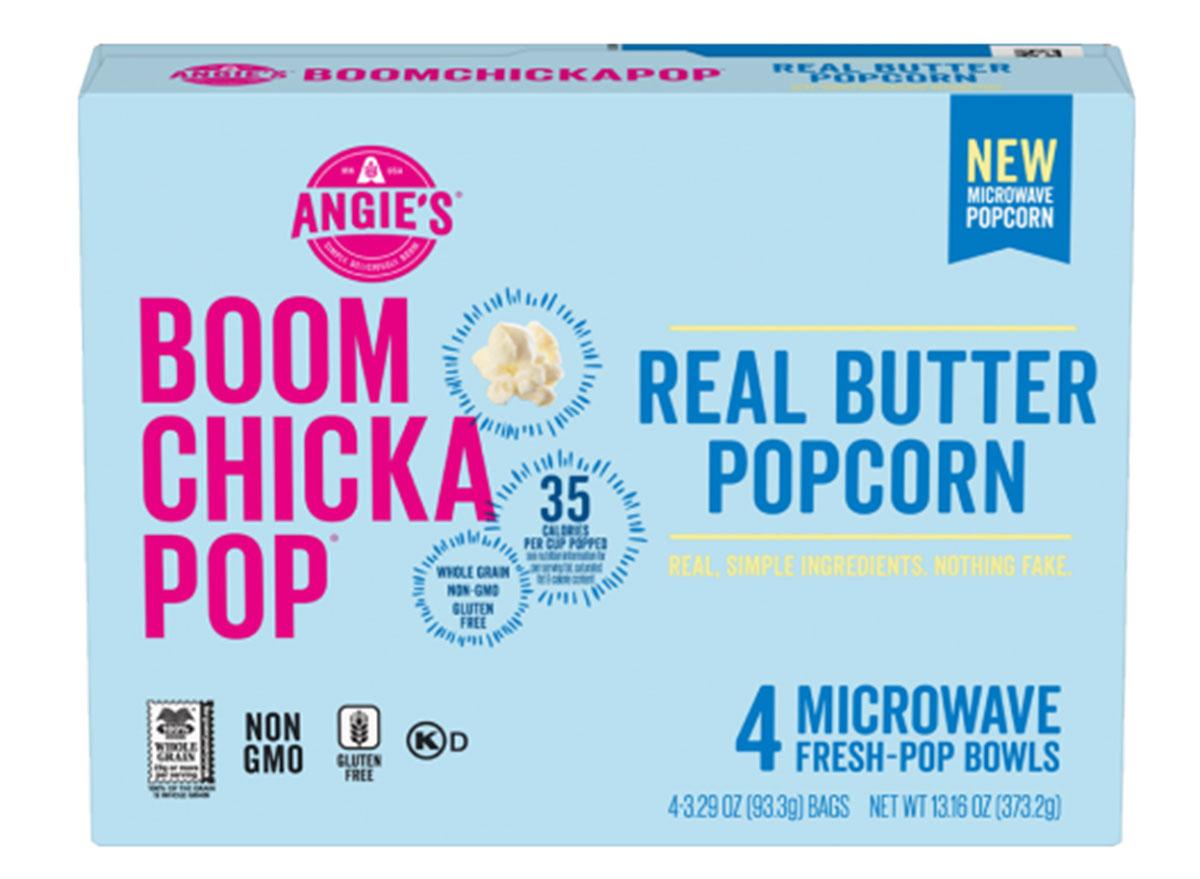 boom chicka pop real butter popcorn