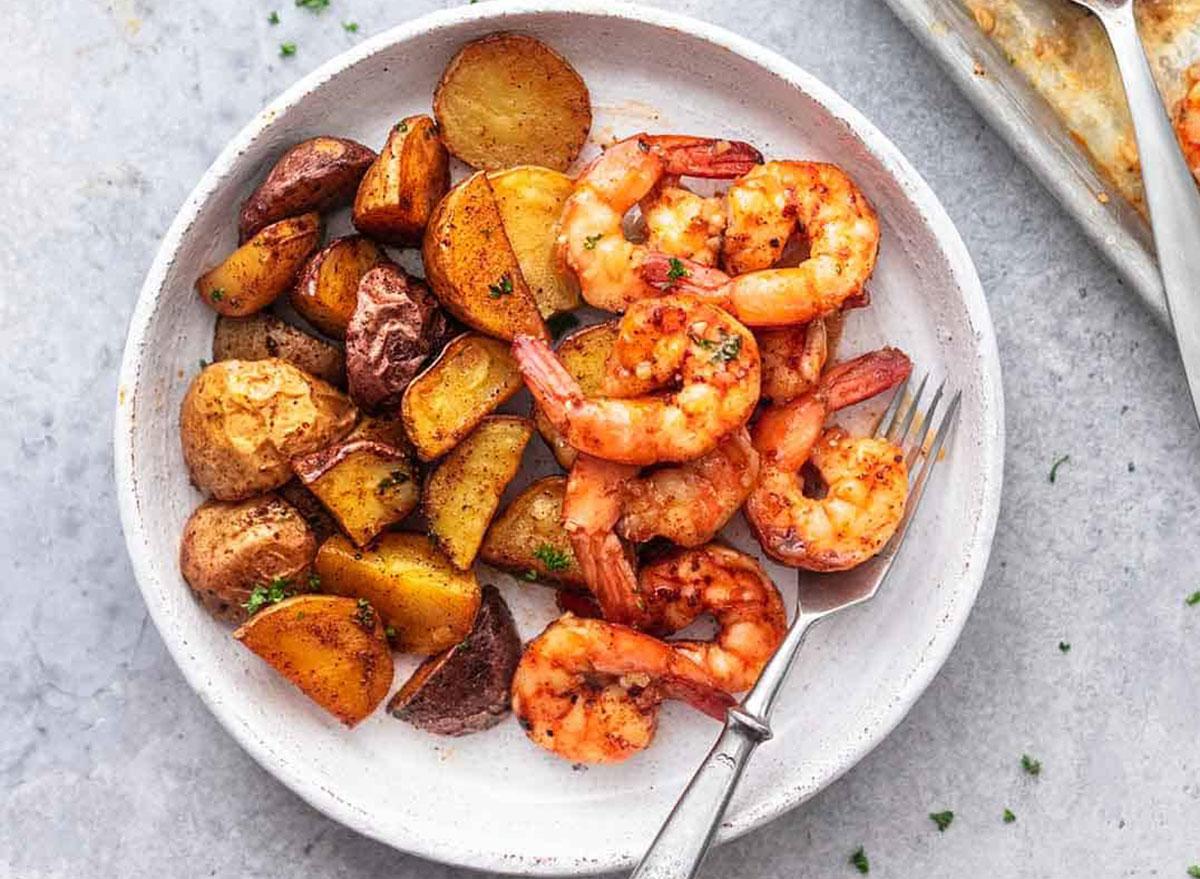 Cajun shrimp and potatoes