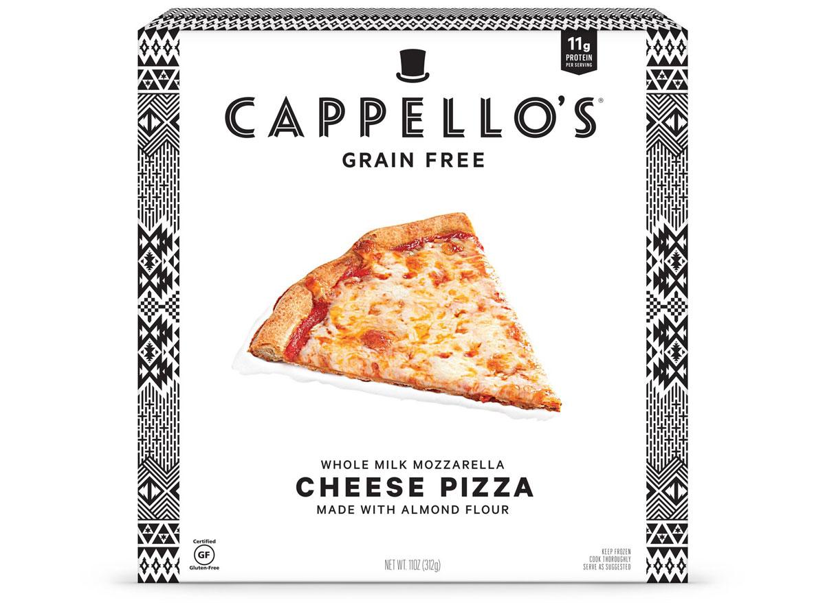 Cappellos grain free almond flour cheese frozen pizza