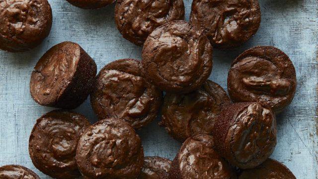 crinkle top brownie bites