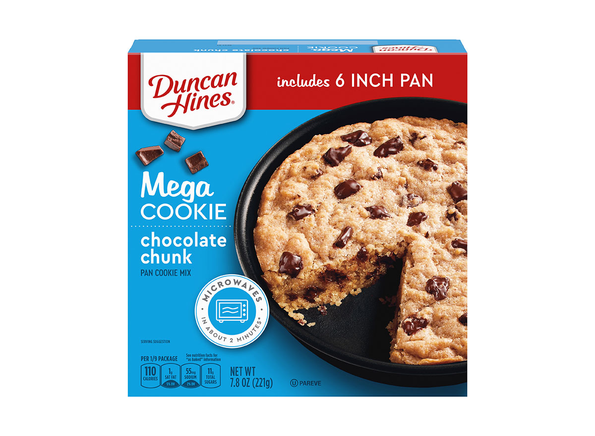 duncan hines skillet cookie mix box