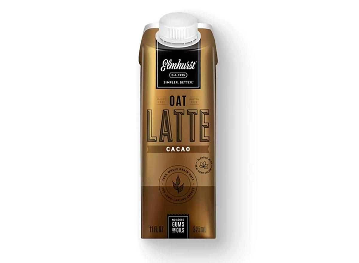 elmhurst bottled oat milk latte