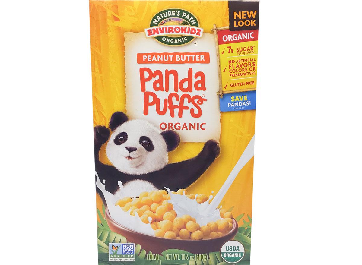 Peanut butter panda puffs
