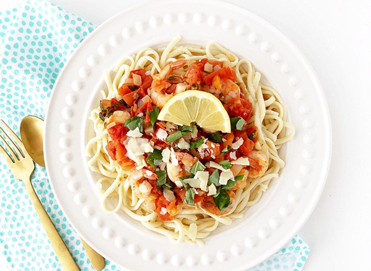Good Friday recipes fettuccine shrimp