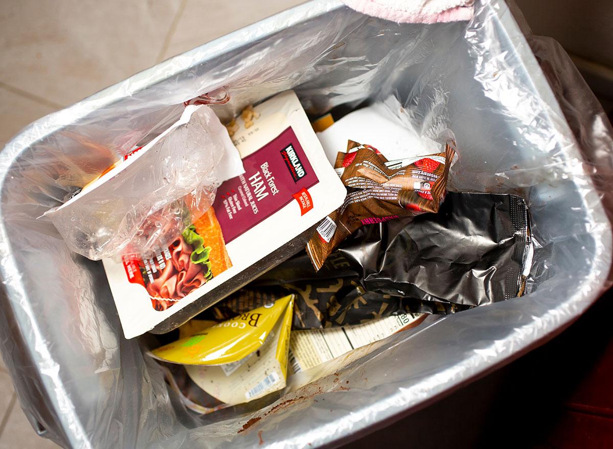 Food in garbage