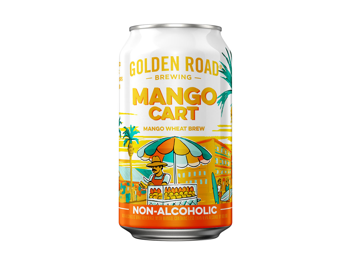 can of golden road mango non alcoholic brew
