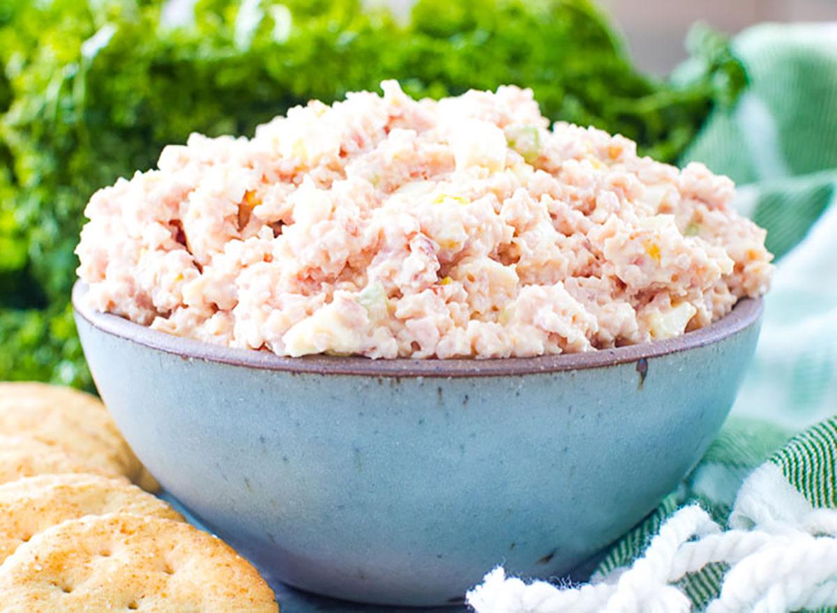 bowl of ham salad