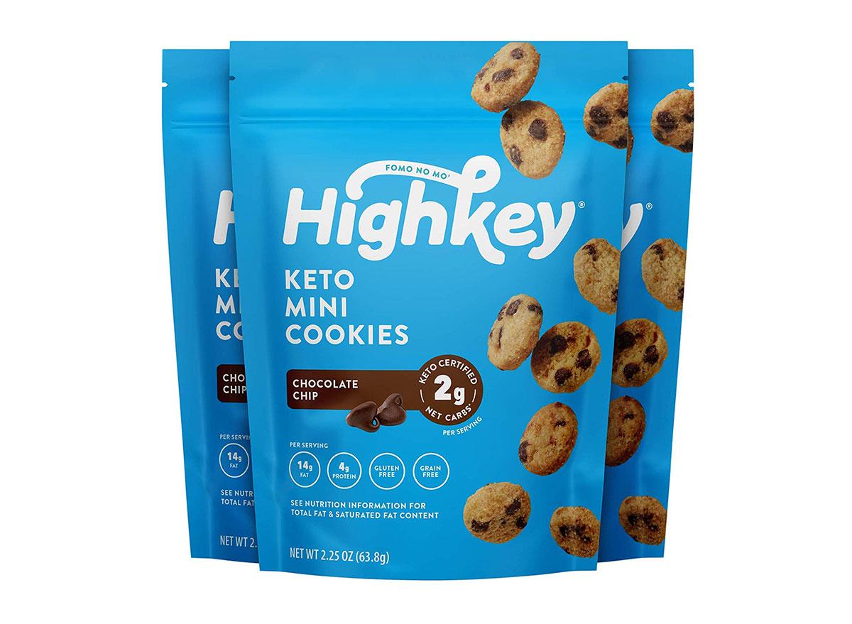 highkey keto mini cookies bag