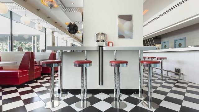 inside diner