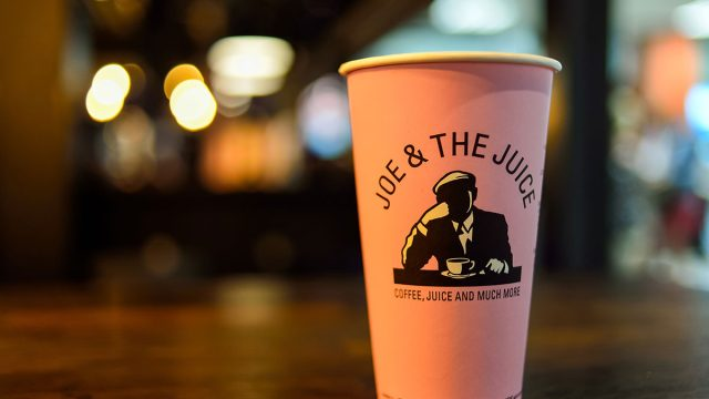 coffee cup from joe and the juice