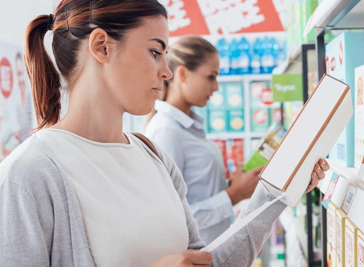 looking at ingredient list
