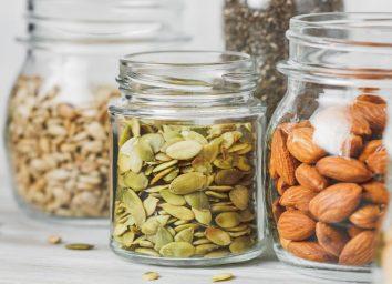 Pumpkin seeds almonds sunflower seeds magnesium foods