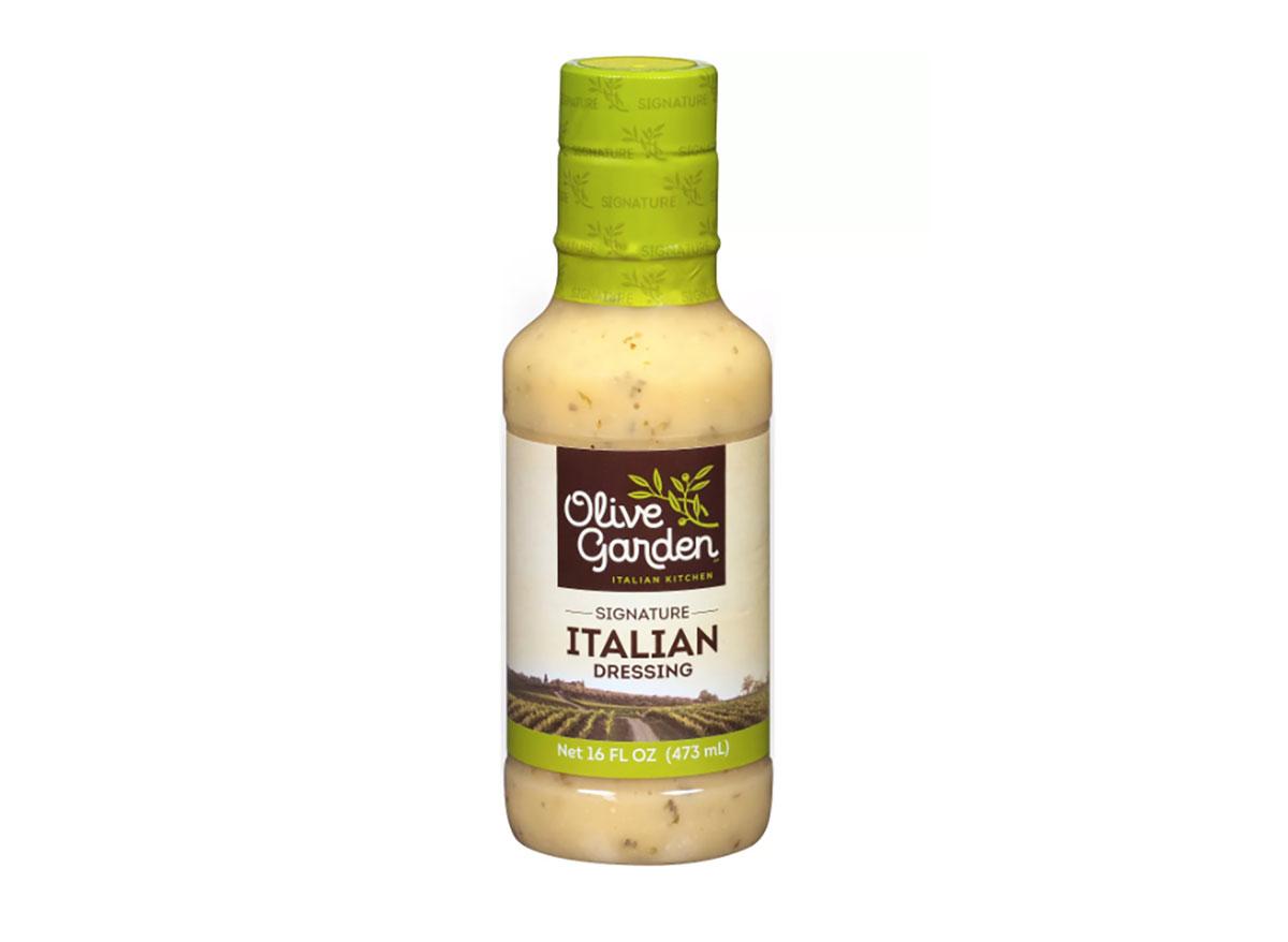 bottle of olive garden italian salad dressing