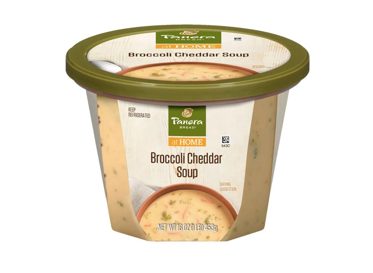 carton of panera broccoli cheddar soup