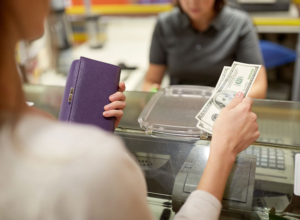paying with cash