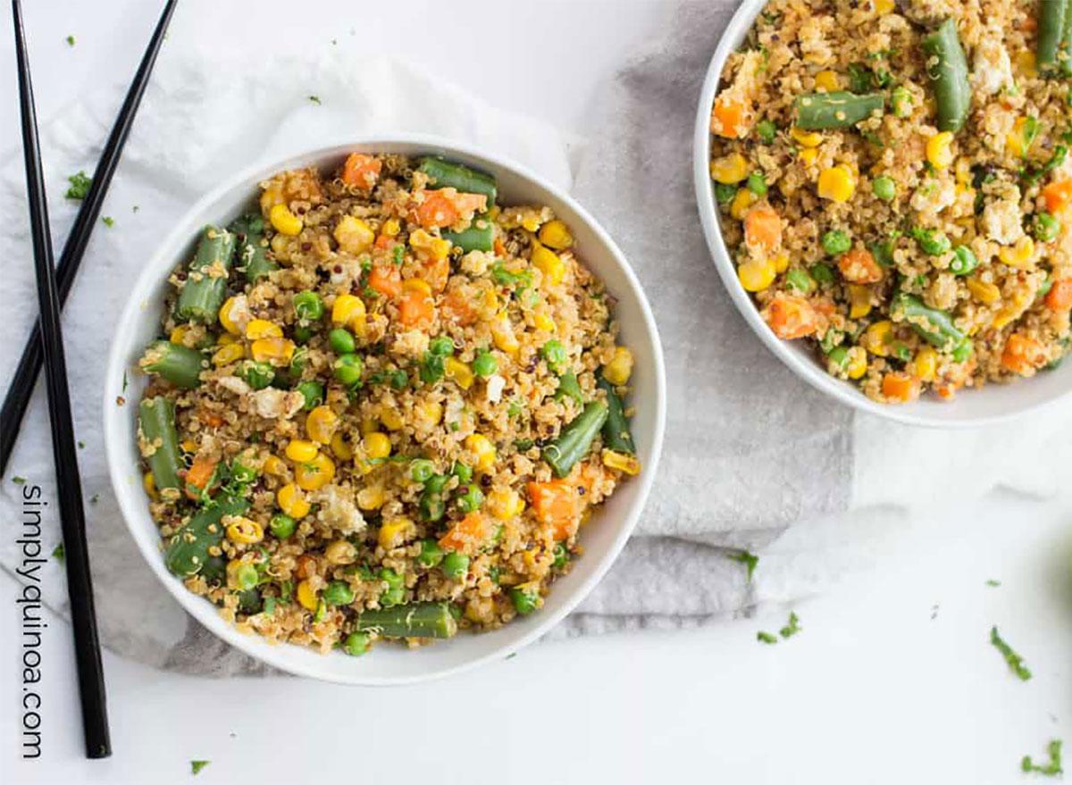 bowls of quinoa fried rice