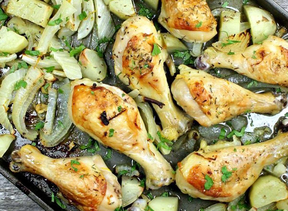 sheet pan chicken legs