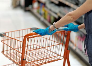 shopping cart gloves