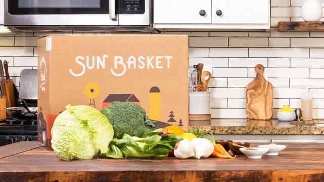 Sun basket meal kit box