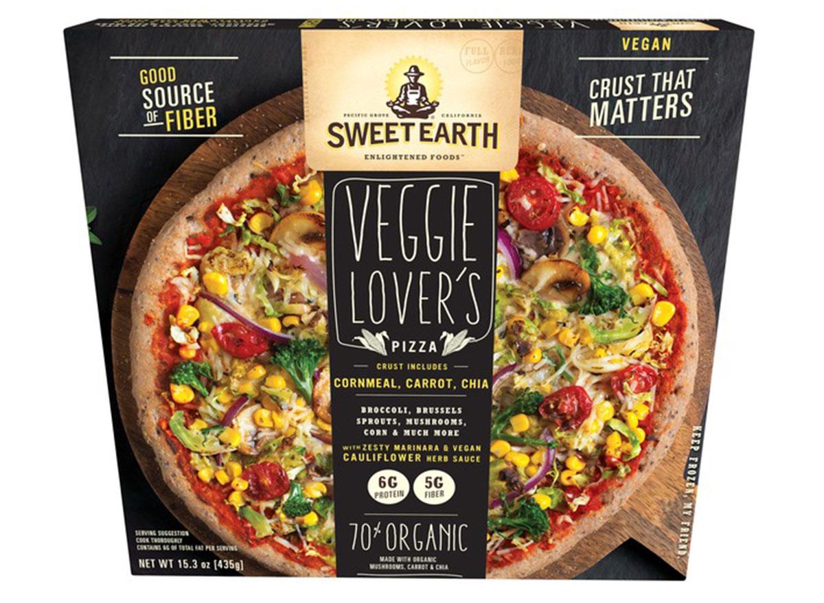 sweet earth veggie lovers frozen pizza