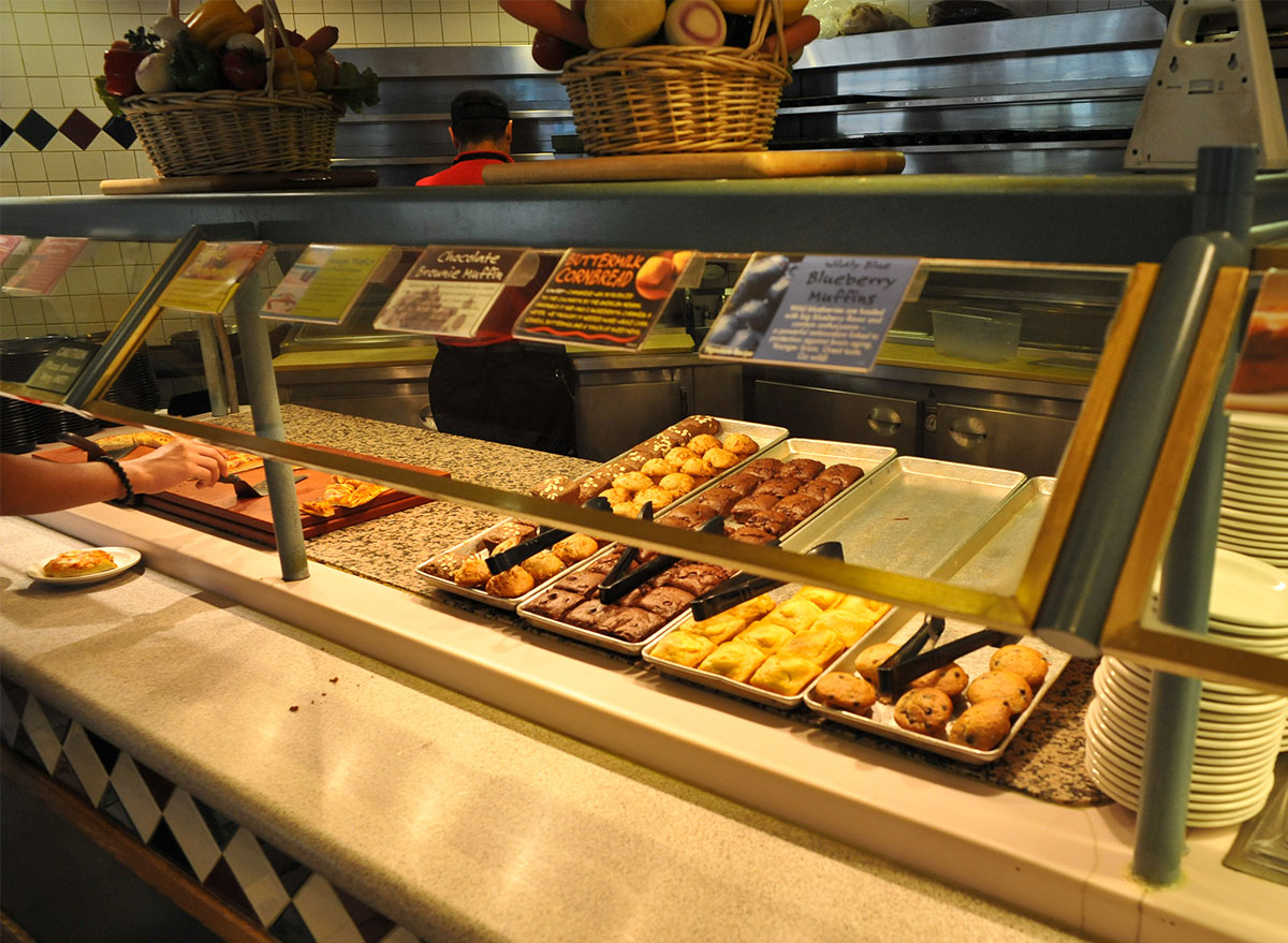 bakery buffet at sweet tomatoes