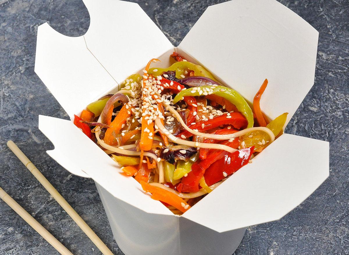 vegetarian wok noodles