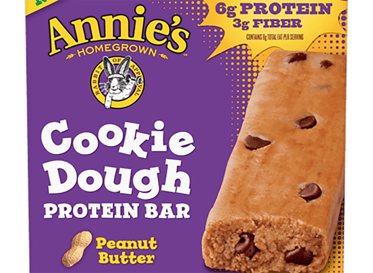 Annie's cookie dough protein bar